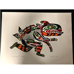 """1994 LIMITED EDITION NATIVE ART PRINT """"SEA MONSTER"""" BY J. NELSON"""