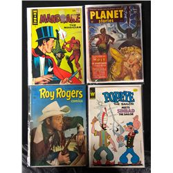 VINTAGE COMIC BOOK LOT (ROY ROGERS/ POPEYE...)