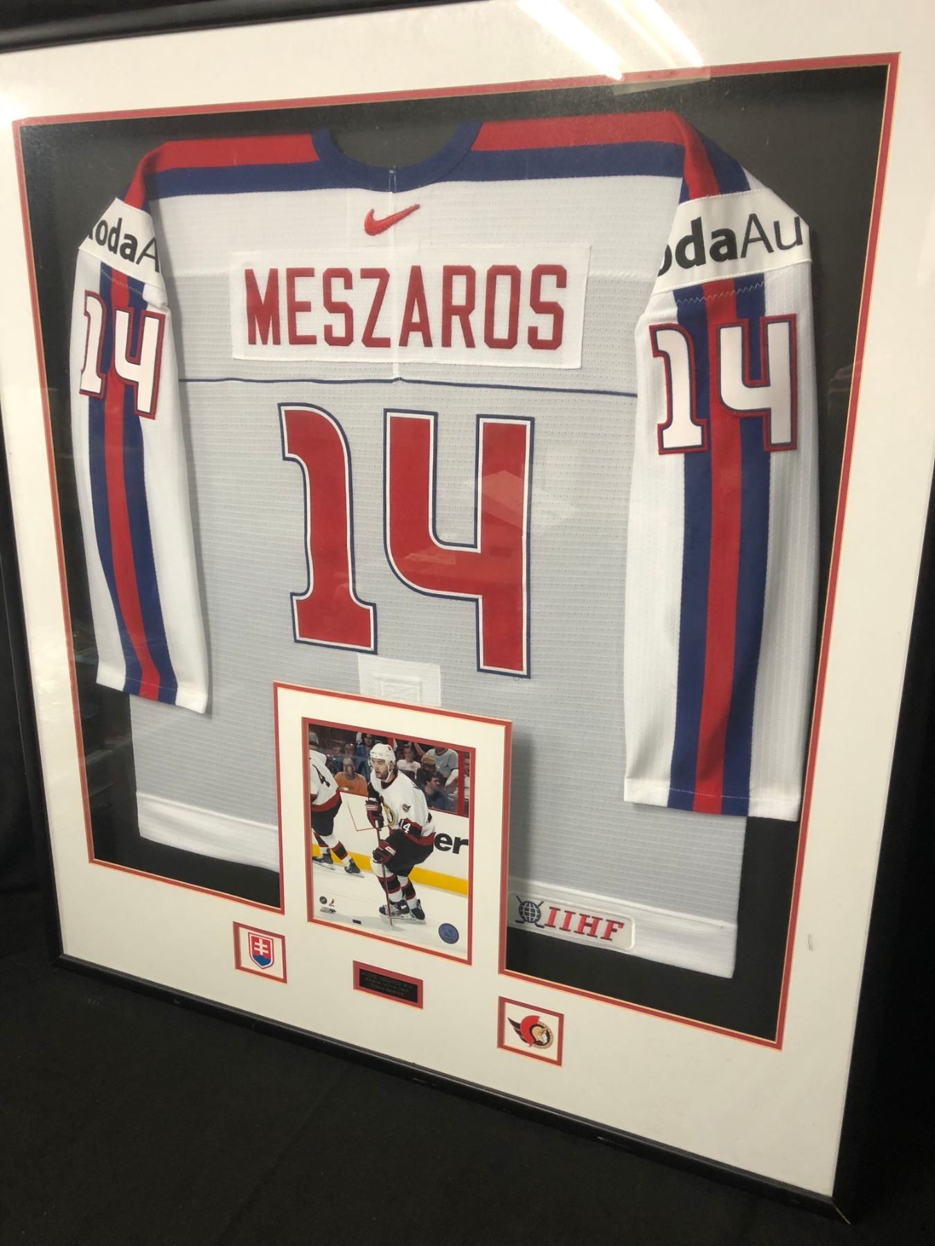 Andrej Mezaros Game Used World Junior Hockey