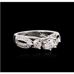 14KT White Gold 0.98 ctw Diamond Ring