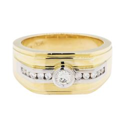 0.48 ctw Diamond Ring - 14KT Yellow and White Gold