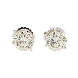 2.02 ctw Diamond Earrings - 14KT White Gold