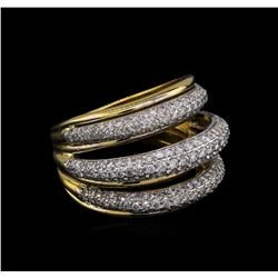 1.74 ctw Diamond Ring - 14KT Two-Tone Gold