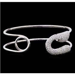 2.08 ctw Diamond Bracelet - 14KT White Gold