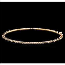 0.81 ctw Diamond Bangle Bracelet - 14KT Rose Gold