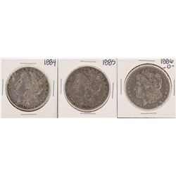 Lot of 1884, 1885 & 1886-O $1 Morgan Silver Dollar Coins