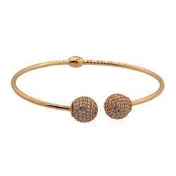 2.00 ctw Cubic Zirconia Bangle Cuff Braclet 14KT Rose Gold