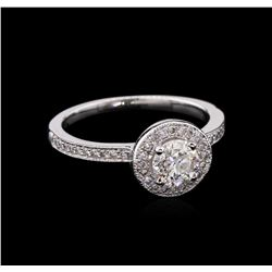 0.72 ctw Diamond Ring - 14KT White Gold