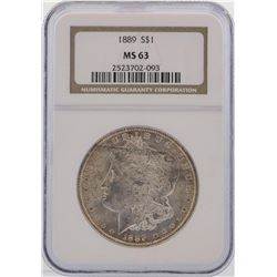 1889 $1 Morgan Silver Dollar Coin NGC MS63