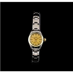 Rolex 14KT Two-Tone Oyster Precision Vintage Ladies Watch