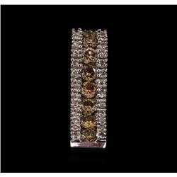 0.62 ctw Diamond Pendant - 14KT White Gold