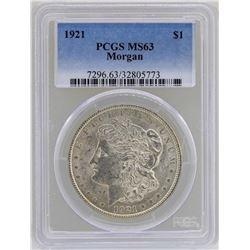 1921 $1 Morgan Silver Dollar Coin PCGS MS63