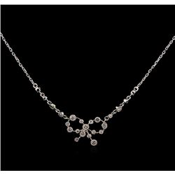 0.38 ctw Diamond Necklace - 14KT White Gold