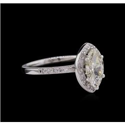 1.15 ctw Diamond Ring - 14KT White Gold