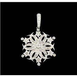 1.69 ctw Diamond Pendant - 18KT White Gold