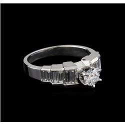 1.29 ctw Diamond Ring - 18KT White Gold