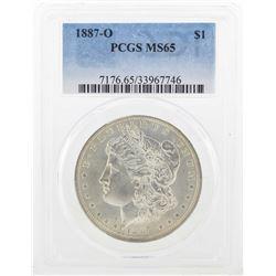 1887-O $1 Morgan Silver Dollar Coin PCGS MS65