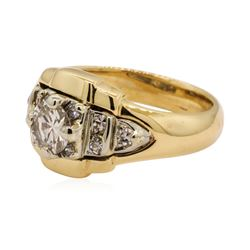 0.70 ctw Diamond Ring - 14KT Yellow And White Gold