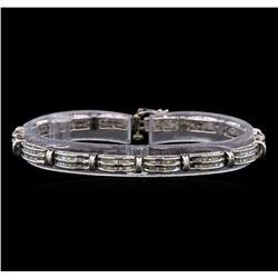 14KT White Gold 2.83 ctw Diamond Bracelet