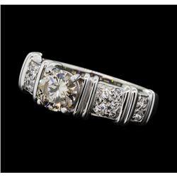1.02 ctw Diamond Ring - 18KT Yellow With Rhodium Plating Gold