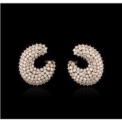 14KT Rose Gold 6.30 ctw Diamond Earrings
