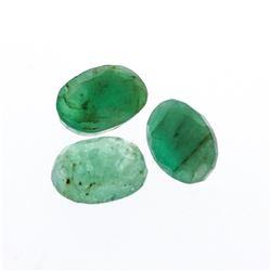 3.56 cts. Oval Cut Natural Emerald Parcel