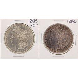 Lot of 1885-O & 1886 $1 Morgan Silver Dollar Coins