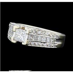2.05 ctw Diamond Ring - 14KT White Gold