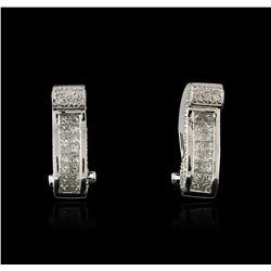 18KT White Gold 1.21 ctw Diamond Earrings