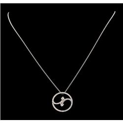 0.88 ctw Diamond Pendant With Chain - 14KT White Gold