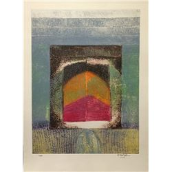 Arun Bose, Abstract Doorway, Aquatint Etching