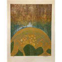 Arun Bose, Sunrise Flower, Aquatint Etching