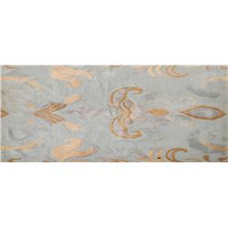 Light Blue Paisley Rug, Wool Rug