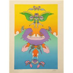 Peter Max, Facing Waves, Lithograph