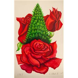 Lowell Blair Nesbitt, Christmas Rose, Gouache and Watercolor Painting