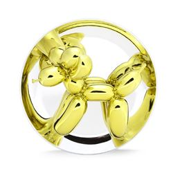 Jeff Koons, Balloon Dog (Yellow), Porcelain with Mirror Finish