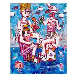Greg Kessler, Eating Drinking Smoking, Oil Painting
