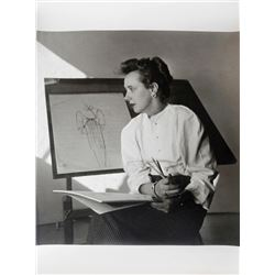 Louise Dahl-Wolfe, Woman with Fashion Sketch, Photograph