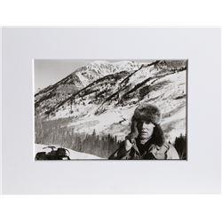 Christopher Makos, Andy Warhol Snowmobiling, Photograph
