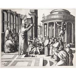 Marcantonio Raimondi, Saint Paul prechant a Athenes, Heliogravure