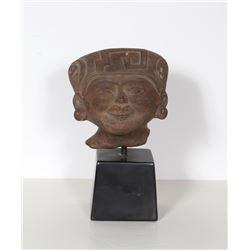 Alva Studios, Head, Veracruz Mexico Remojadas Culture, Reproduction Cast Ceramic