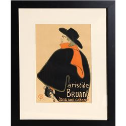 Henri de Toulouse-Lautrec, Dans Son Cabaret, Lithograph