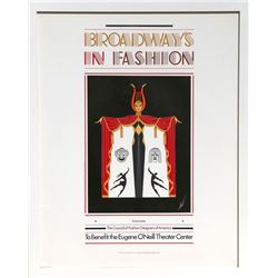 Erte, Broadway's in Fashion, Poster