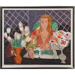 Henri Matisse, Woman and Flowers II, Serigraph Poster