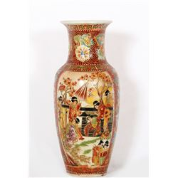 Chinese, Women in the Garden, Painted Porcelain Vase