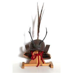 Japanese, Decorative Samurai Heichozan Kabuto Bronze Helmet