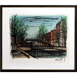 Bernard Buffet, Canal St. Martin, Lithograph