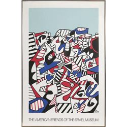 Jean Dubuffet, The American Friends of Israel Museum, Offset Lithograph