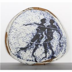 Jerrold Friedman, Couple, Glazed Ceramic Plate
