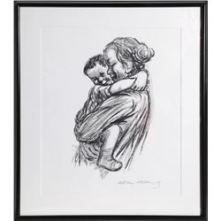 Kathe Kollwitz, Mother and Child, Serigraph Poster